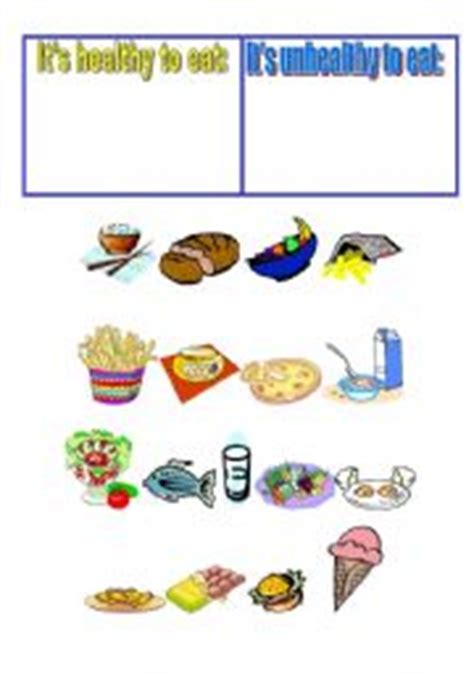 Healthy and unhealthy foods essay